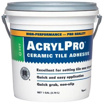 Custom Building Products 4000 AcrylPro Acrylic Ceramic Tile Adhesive, Quart