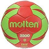 Molten h0 x 3200–rG2 Ballon de Handball-Rouge/Vert-Taille x 0–3200–rG2 h0