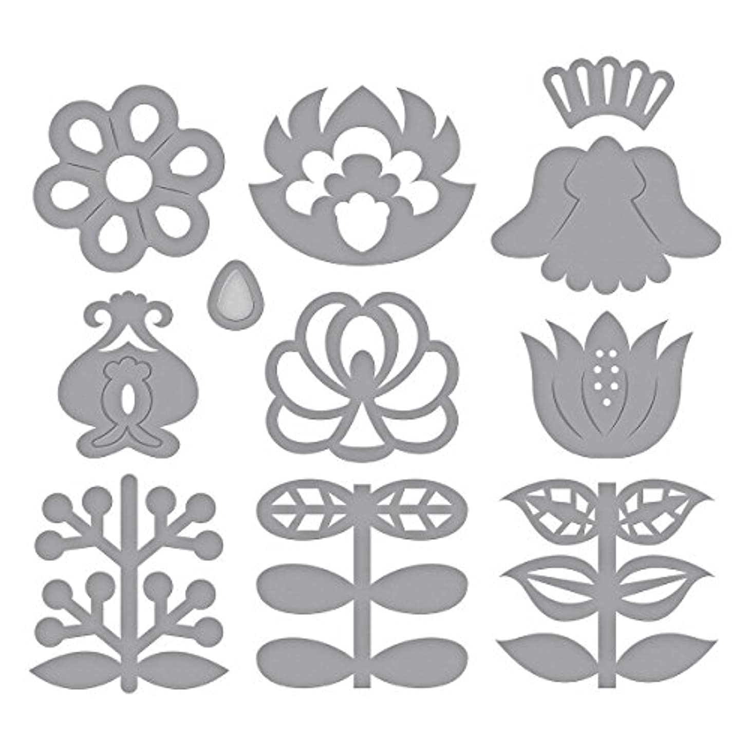 Spellbinders Shapeabilities Nordic Blooms Etched/Wafer Thin Die