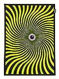 PSYWORK Schwarzlicht Stoffposter Neon PSY Waves Green,