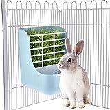 Multifunzionale: lo strato superiore della ciotola è una mangiatoia per erba che può essere appesa alla griglia della gabbia con un diametro fino a 3,9mm, mentre la parte inferiore è una ciotola ideale per conigli, cincillà, porcellini d'india o alt...