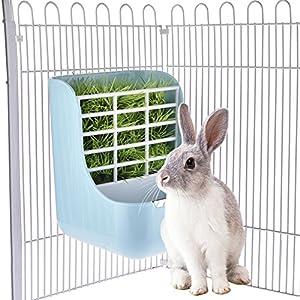 KIOPS Alimentador de Mascotas de Conejos, 2-en-1 Cobayas Accesorios, Resistente al Desgaste, Apto para Cualquier Jaulas Hurones