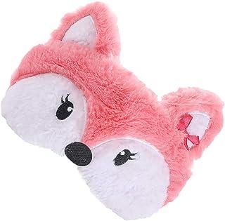 HEALLILY 2St Tecknad Sleep Eye Fox Sovande Djur Natt Sömn Blindfold Block Ut Ljus Ögon Sköld Ögat Skylt Ögat Skugga Cove F...