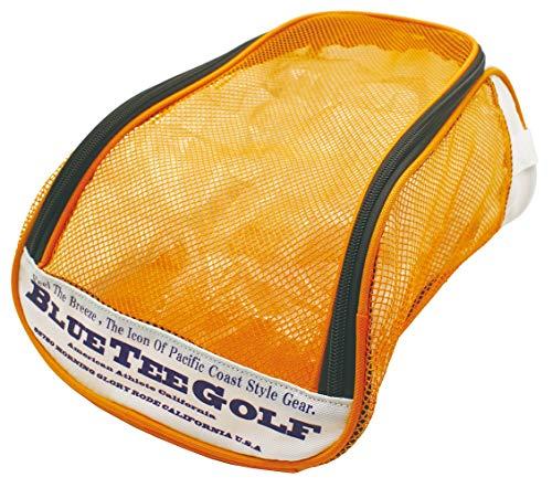 ブルーティーゴルフ 通気性抜群 メッシュシューズケース BTG-SC001 (オレンジ)