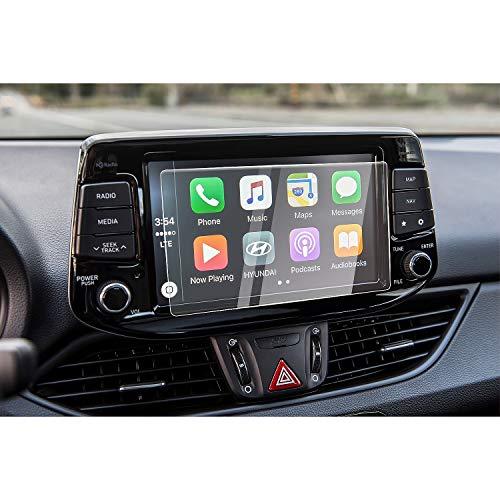 [8 Zoll] CDEFG für Hyundai i30 / i30 Kombi / i30 N 2016 2017 Auto Navigation Glas Schutzfolie 9H Kratzfest Anti-Fingerprint GPS Transparent Displayschutzfolie
