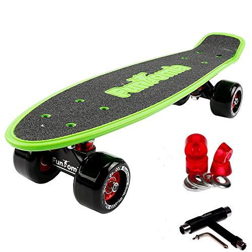 FunTomia Miniboard Cruiser Skateboard mit 70/65mm Big Wheel Rollen inkl. MACH1 Kugellager