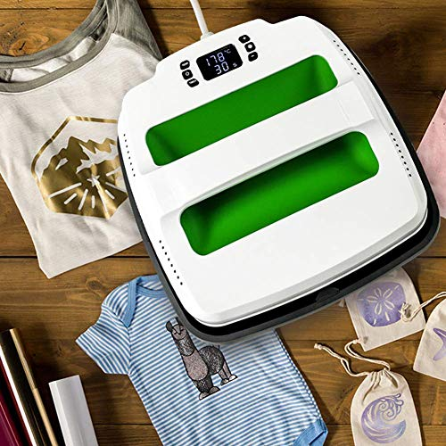 O BOSSTOP Heat Press Machine Portable 9 X 9 inches Sublimation T Shirt Press Printing Machine Iron on Machine Professional Digital Transfer Teflon Sheet Silicone Mat Included