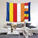 Ameok-Design - Tapiz de pared, diseño de bandera budista, para colgar en la pared,...
