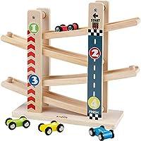 Pista per Auto in Legno,Il Primo Giocattolo da Pista in Legno per Bambini della Prima Educazione,Adatto a Ragazzi e Ragazze all'età di 1 -5Anni #1