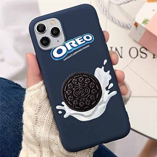 Wyalm Oreo Leche Chocolate Biscuit Cubierta Soft Fundas para teléfono para iPhone 11 12 Mini Pro 7 Plus 8 x XS XR MAX SE 2020 Case Coque (Color : 2, Size : Iphone11 Pro)