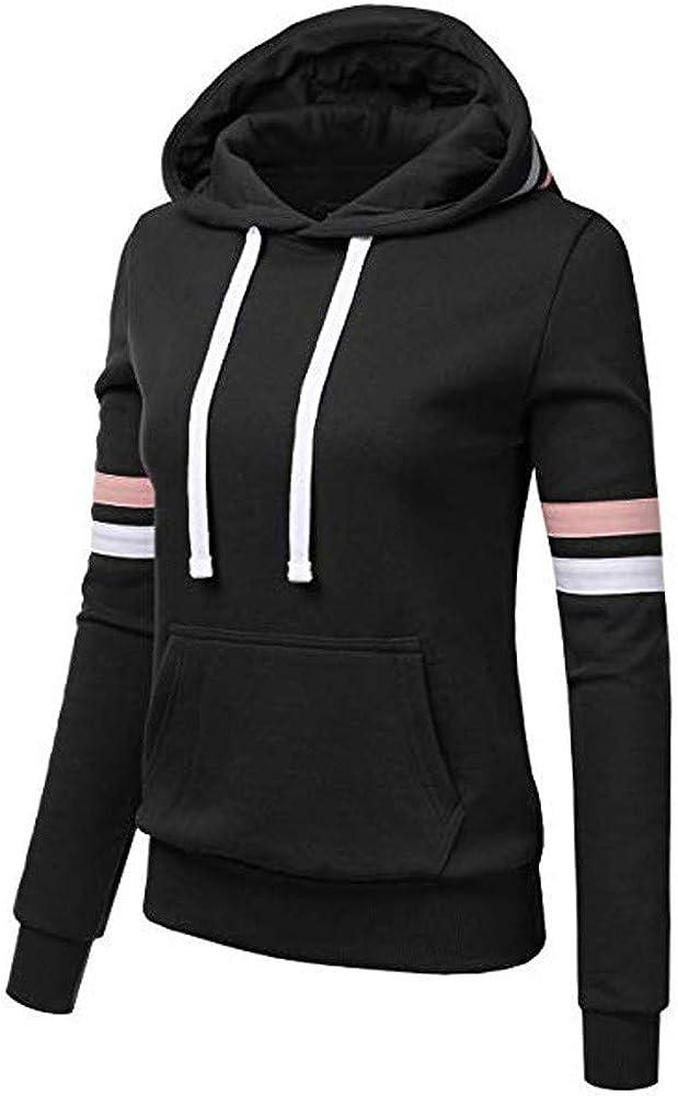 Womens Hooded Sweatshirt Slim Fit Casual Long Sleeve Hoodie Winter Fall Pullovers Blouse Top with Kangaroo Pocket