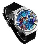 Armbanduhren,Touchscreen LED Uhr Wasserdicht Leuchtende Elektronische Uhr Broly Dbs Anime Umgebung Silver Shell Black Belt
