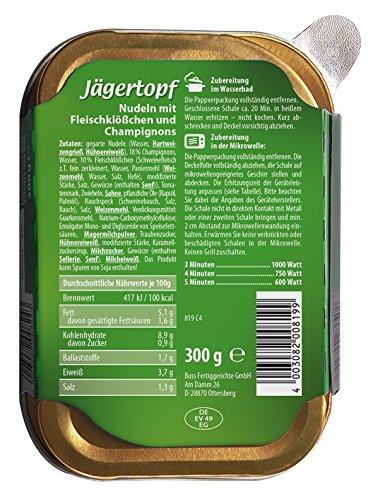 Buss Jägertopf - Nudeln mit Fleischklößchen und Champignons, 12er Pack (12 x 300 g) - 2