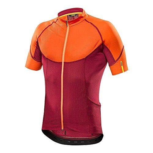 Mavic Ksyrium Pro Jersey Men red/orange Größe S (FR) 2016 Trikot kurzärmlich