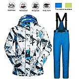 Volwco Veste De Ski Hommes Et Pantalon Ensemble Coupe-Vent étanche l'hiver Respirant en Plein Air...
