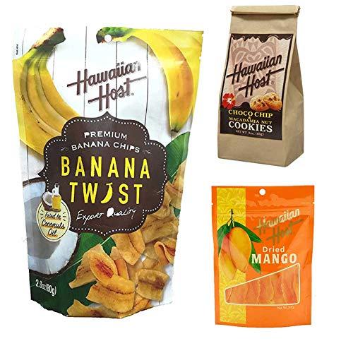 スイーツ ギフト ハワイアンホースト ドライマンゴー バナナチップス チョコレート クッキー 3点セット