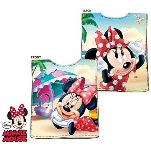 Serviette de plage poncho MINNIE Disney * 50x100cm 100% coton Taille Unique * NEUF * Fille