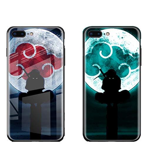 FUTURECASE Anime Naruto Itachi Sasuke Kakashi Akatsuki - Carcasa luminosa de vidrio templado para iPhone 12 11 Pro Max Mini X XR XS Max 6 6S 7 8 Plus SE 2020 (1, iPhone XR)