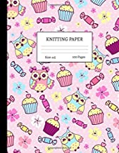 Knitting Paper: Graph Notebook and Journal for Patterns   4:5 Ratio   100 pages   Letter Format 8.5