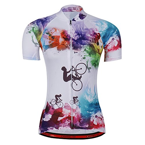 Women's Cycling Jersey Beautiful Bike Bicycle Clothing Shirt Jacket Summer,Black,Asia -S