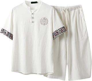 FMOGQ Męskie mundury Kung Fu plus size zestawy sztuki walki tang garnitury chińskie tradycyjne ubrania taichi odzież baweł...