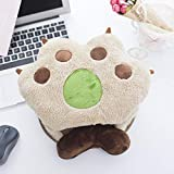 Universal Plush USB Hand Warmer Mouse Pad Cat Bear Paw Electric USB Heated Mouse Pad with Wrist Guard (Bear Claw)