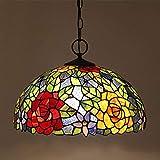 DXDUI Lámpara de Pared de Estilo Tiffany, Vintage Manchado Pared Simple Linterna Cama de Hierro Forjado Aplique Estancia Girasol,Segundo