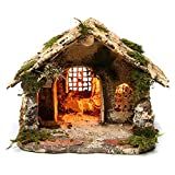 Holyart Portal Iluminado para Natividad 15x25x25 cm belén napolitano