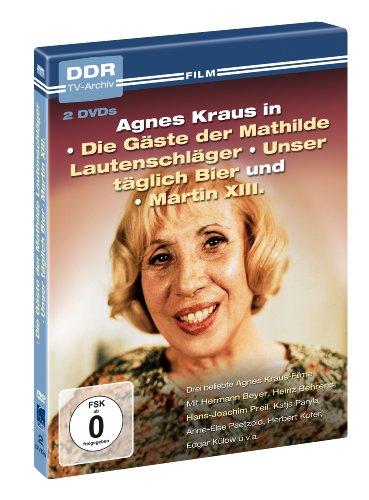 Agnes Kraus - DDR TV-Archiv ( 2 DVDs - Die Gäste der Mathilde Lautenschläger, Unser täglich Bier, Martin XIII. )