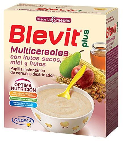 Blevit Plus Multicereales - Papilla de Cereales para Bebé Con Frutos Secos, Miel y Fruta - Sin Azúcares Añadidos - Desde los 6 meses - 600g
