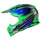 GLX Unisex-Adult GX23 Dirt Bike Off-Road Motocross ATV Motorcycle Helmet for Men Women, DOT Approved (Sear Green, X-Large)