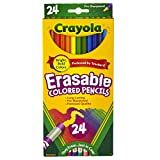 Crayola Erasable Colored Pencils, Kids At Home Activities, 24 Count
