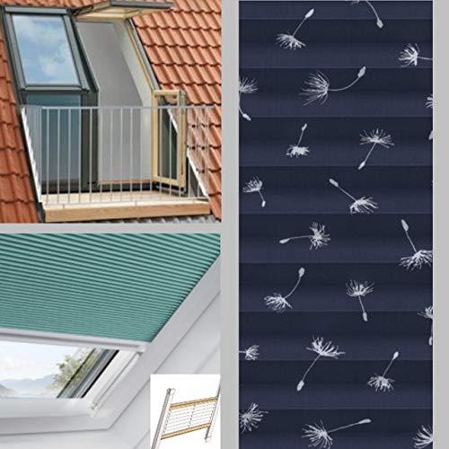 generisch Plissee-verdunkelnd für VELUX Cabrio GDL SK19 - dunkelblau - Sternenhimmel (SK04 unteres Fenster)