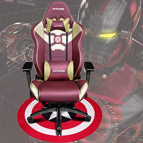 Chairs Schreibtischstühle Gaming Ergonomischer Computersessel Iron Man/Spiderman/Captain America Home Cafe Spiel Wettbewerbssitze Boss Teppich,Ironman