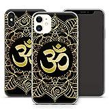 Handyhülle Om Mandala für iPhone Apple Silikon Hülle MMM Berlin Hippie Yin Goa Buddha Peace Yoga, Kompatibel mit Handy:Apple iPhone 7 Plus, Hüllendesign:Design 4 | Silikon Klar