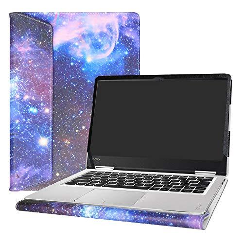 Alapmk Funda Protectora de Cuero de PU para 14' Lenovo Yoga 710 14 710-14ISK 710-14IKB & ThinkBook 14s 14s-IWL 14s-IML Laptop(Not fit Yoga 710 11.6 & 15.6/Yoga 720/Yoga 730),Galaxy