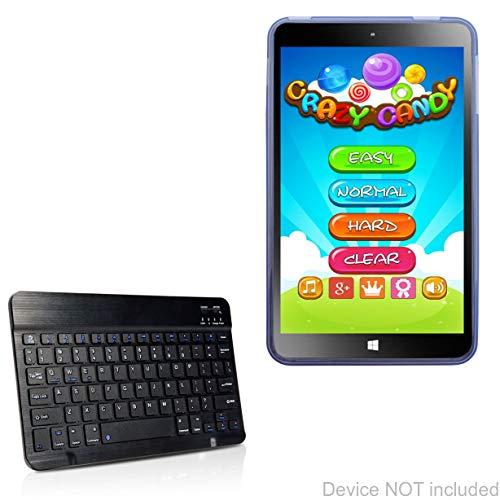 Digiland DL808W Tablet (8 in) Keyboard, BoxWave [SlimKeys Bluetooth Keyboard] Portable Keyboard with Integrated Commands for Digiland DL808W Tablet (8 in) - Jet Black