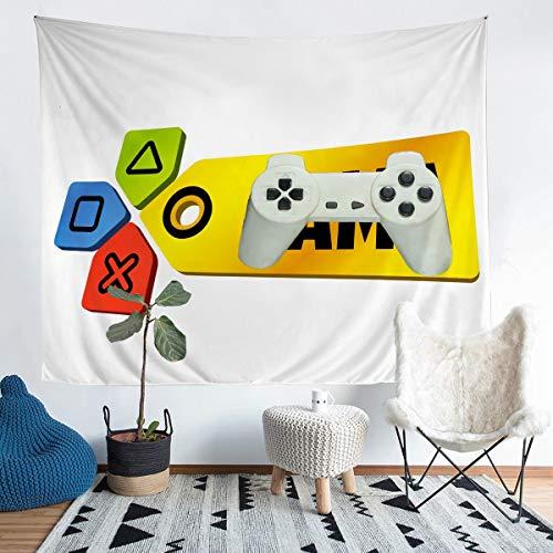 Manta de microfibra para colgar en la pared con diseño de flechas coloridas, para niños, niños, niñas, moderna consola de jugador, manta de microfibra, extragrande, 152 x 238 cm