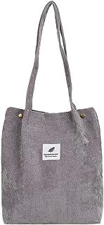 jEZmiSy Lässig große Kapazität Cord Shopping Umhängetasche Frauen Reisen Tote Handtasche