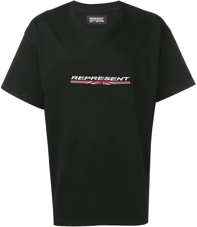 REPRESENT Men's 105011BLK Black Cotton TShirt