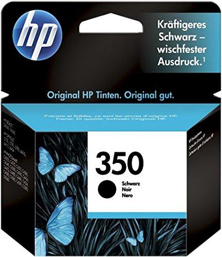 HP 350 CB335EE Cartuccia Originale per Stampanti a Getto d'Inchiostro, Compatibile con Deskjet D4260, D4300, Photosmart C5280, C4200, Officejet J5780, J5730, Nero