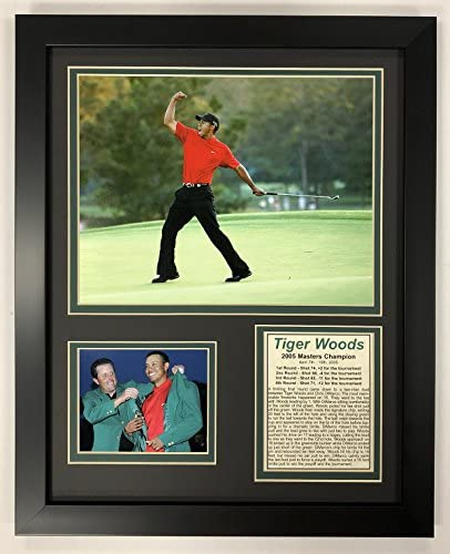 Legends Never Die PGA Tiger Woods 2005 Masters Champion Framed Double Matted Photos 12 x 15 product image