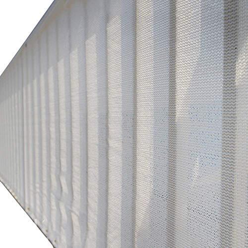 ZHAS Balcon Couvercle de Protection de la Vie privée Clôture Trap Blanc Piège de résistance aux déchirures pour Petite clôture Autour du Spa, écran Solaire à 80% (Taille: 3mX6m)