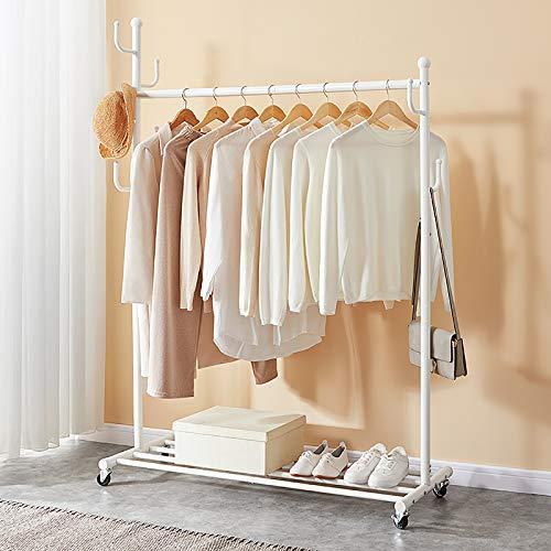 "SINGAYE Rolling Garment Rack with Shelf 4724""W X1732""L X6771""H White"