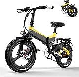Bicicleta eléctrica de nieve, Ligera eléctrica plegable bicicletas for adultos, 48 ★★ pulgadas extraíble de alta capacidad de 20 pulgadas bicicletas de ciudad E, 12.8 / 10.4Ah de iones de litio (par