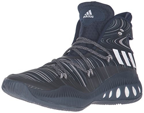adidas Men's Shoes | Crazy Explosive Basketball, Collegiate Navy/White/Dark Navy, (5.5 M US)