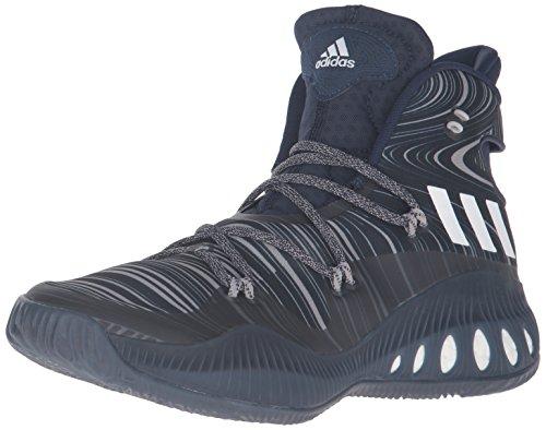adidas Men's Shoes | Crazy Explosive Basketball, Collegiate Navy/White/Dark Navy, (5.5 M US)