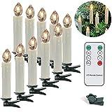 Kabellos Weihnachtskerzen, 20er LED Kerzen mit Fernbedienung, LED Warmweiß Christbaumkerzen für Weihnachtsbaum, Blinkeffekt
