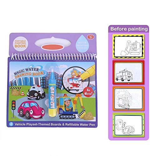 Duokon Portátil mágico para Colorear Agua Libro de Dibujo con Pluma para Colorear niños niños Pintura Libros Regalo Educativo del Juguete(Azul)