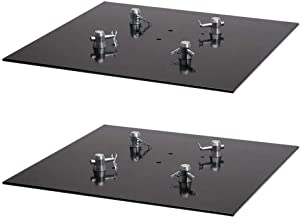 Global Truss Square Steel Lighting Base Plate 2X2S for F24, F33, and F34, 2 Pack